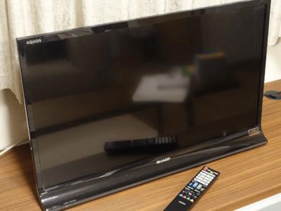 古い液晶テレビを出張回収しました